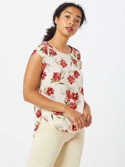 ONLY T-Shirt in beige / grün / rot / weiß: Frontalansicht