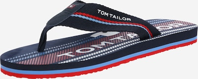 TOM TAILOR Teenslippers in de kleur Navy / Rood, Productweergave