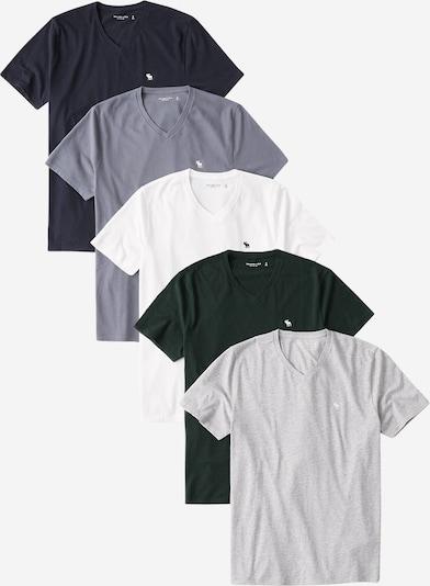 Abercrombie & Fitch Koszulka w kolorze niebieski / granatowy / szary / jodła / białym, Podgląd produktu