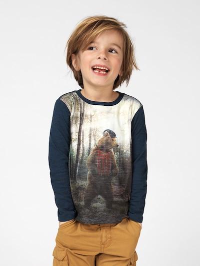 Noppies T-Shirt en bleu marine / mélange de couleurs: Vue de face