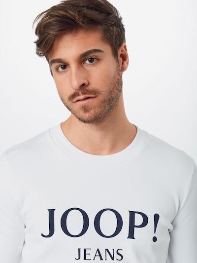 JOOP! Jeans Sweater majica 'Alfred' u bijela: Prednji pogled
