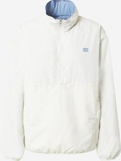 LEVI'S Přechodná bunda - světlemodrá / bílá: Pohled zepředu