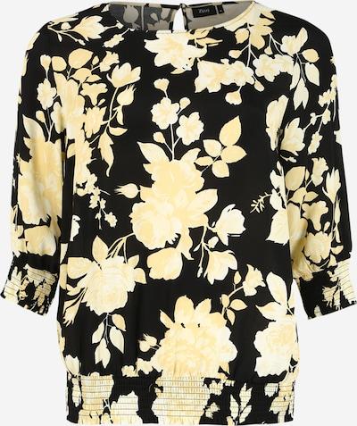 Bluză 'BELLA' Zizzi pe galben pastel / negru / alb, Vizualizare produs