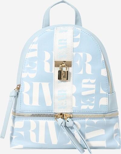 River Island Rucksack in blau / weiß, Produktansicht