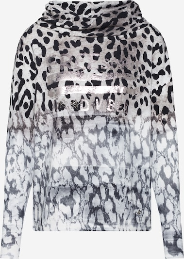 Bluză de molton monari pe bej / negru, Vizualizare produs