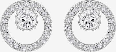 Swarovski Uhani | srebrna / bela barva, Prikaz izdelka