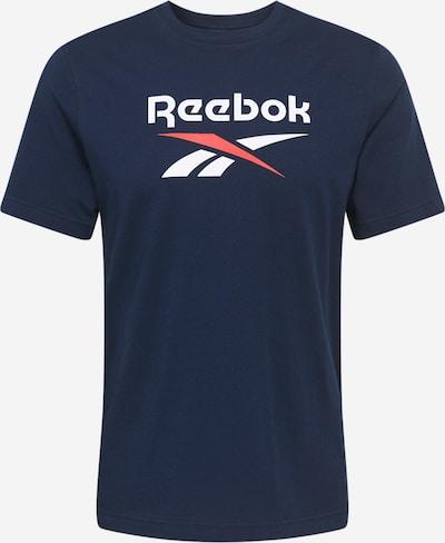 Reebok Classic T-Shirt in navy / rot / weiß, Produktansicht