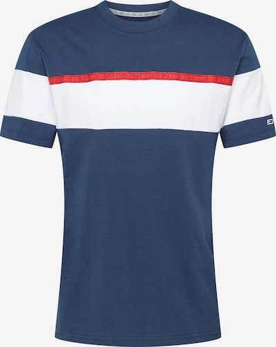 Tricou Tommy Jeans pe navy / roșu / alb, Vizualizare produs
