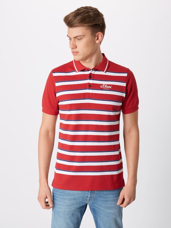 S oliver Red T En Label shirt RougeBlanc DWE9IeH2Y