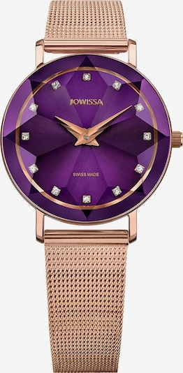 JOWISSA Quarzuhr 'Facet' Swiss Ladies Watch in rosegold / lila, Produktansicht