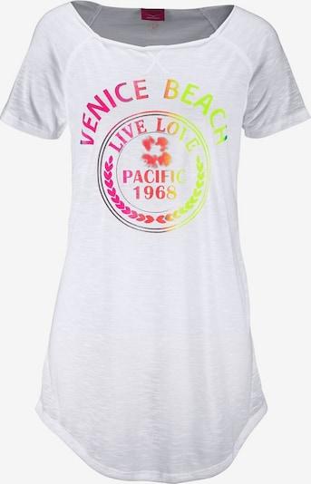 VENICE BEACH Longshirt in neongelb / neonorange / neonpink / weiß, Produktansicht
