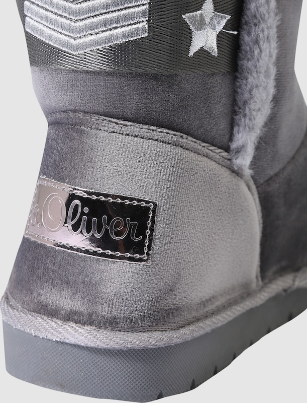 S.Oliver Stitchings ROT LABEL SnowStiefel mit Stitchings S.Oliver 655fab