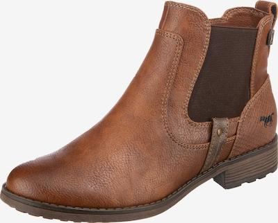 MUSTANG Chelsea Boots in hellbraun / dunkelbraun, Produktansicht