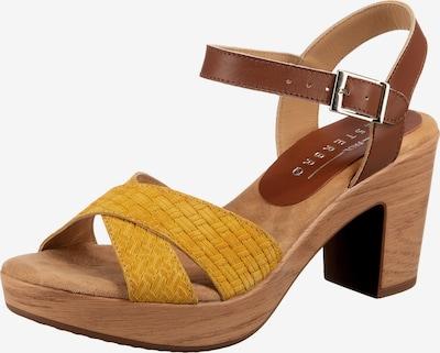 Paul Vesterbro Plateau-Sandaletten in gelb, Produktansicht