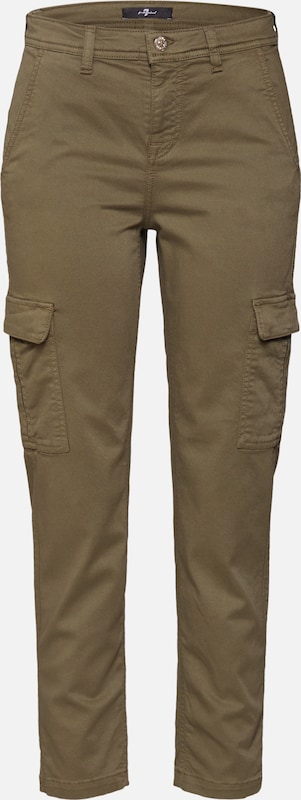 7 for all mankind Hose  'CARGO CHINO MODAL TWILL ARMY' in khaki, Produktansicht