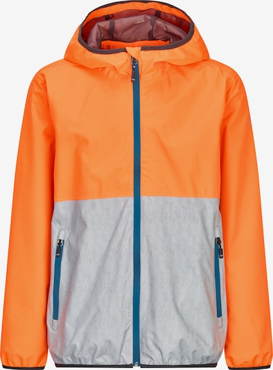 KILLTEC Funkcionalna jakna 'HAIGO COLOURBLOCK JR' | turkizna / oranžna / srebrna barva, Prikaz izdelka