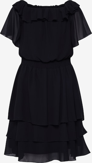 SISTERS POINT Robe 'NICOLINE-OFF.A' en noir: Vue de face