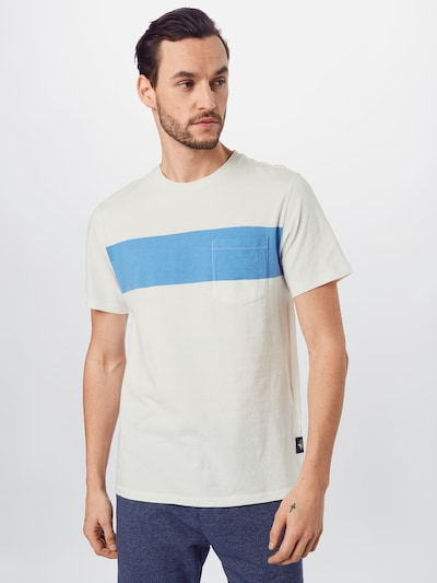Dockers T-Shirt in hellblau / koralle / weiß: Frontalansicht