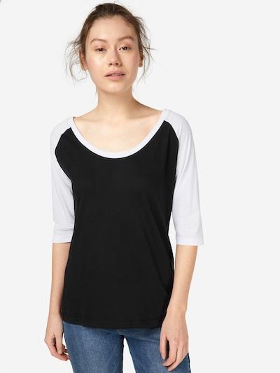Urban Classics Shirt in schwarz / weiß: Frontalansicht