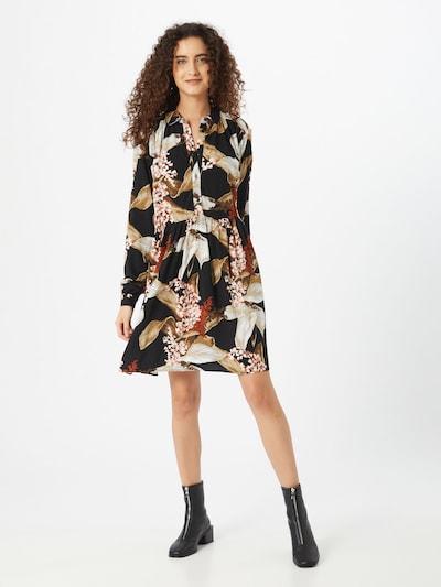 OBJECT Kleid 'OBJLILITI' in beige / braun / schwarz, Modelansicht