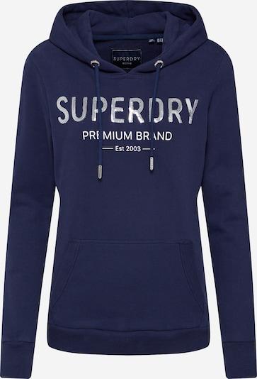 Superdry Sweatshirt  'APPLIQUE SERIF HOOD' in navy, Produktansicht