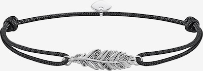 Thomas Sabo Armband 'Little Secret Feder' in schwarz / silber, Produktansicht