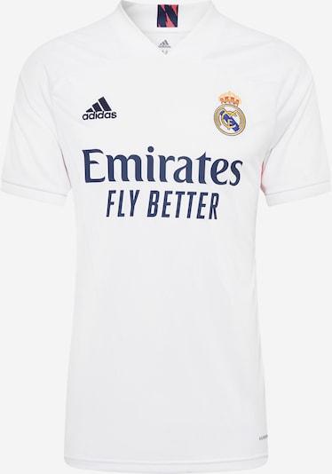 ADIDAS PERFORMANCE Sportshirts  'REAL H JSY' in dunkelblau / weiß, Produktansicht