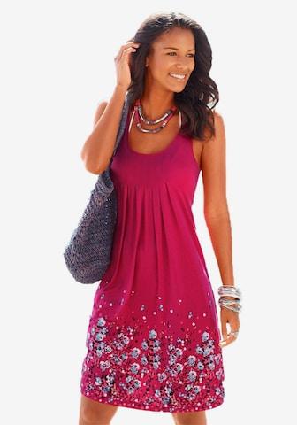 BEACH TIME Plážové šaty - ružová