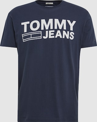 Tommy Jeans Shirt in Donkerblauw / Wit