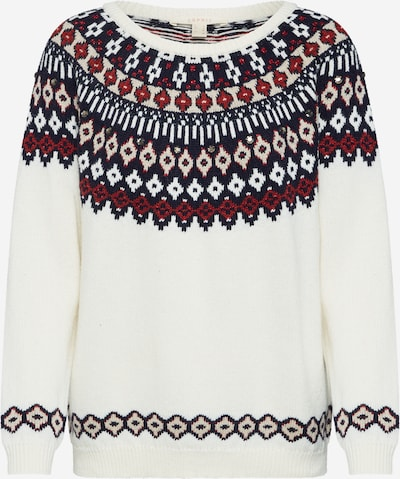 ESPRIT Svetr 'sweater jacquar' - mix barev / offwhite, Produkt