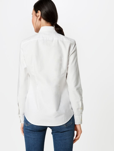 POLO RALPH LAUREN Bluse in weiß: Rückansicht