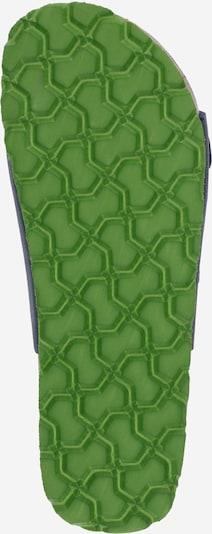 Pantofi deschiși SUPERFIT pe albastru închis / verde limetă: Privire de sus