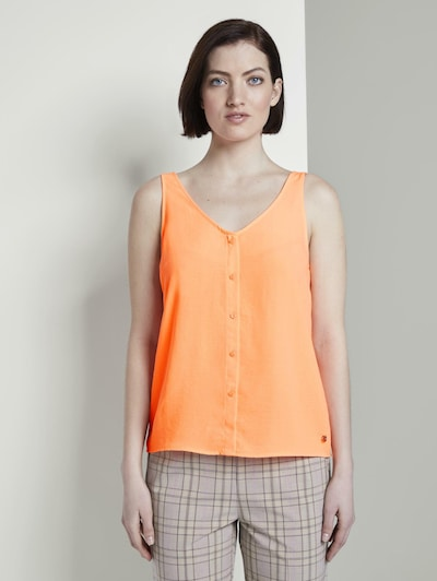 TOM TAILOR DENIM Blusentop in orange, Modelansicht