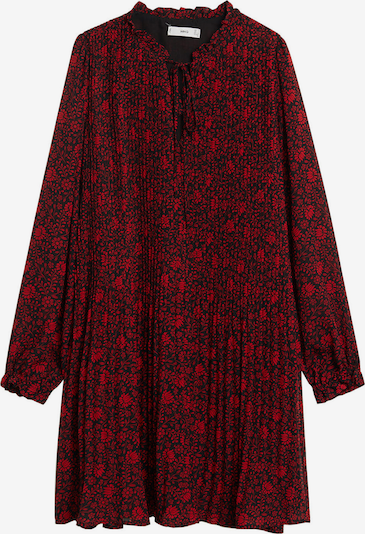 MANGO Kleid 'Pliti' in rot / schwarz: Frontalansicht