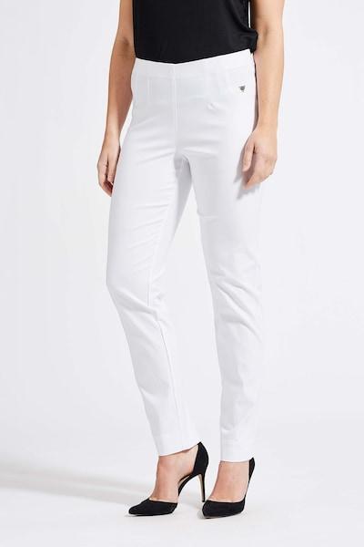LauRie Stoffhose 'Betty' im schlichten Design in weiß, Modelansicht