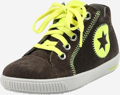 SUPERFIT Lauflernschuh 'MOPPY' in dunkelbraun / gelb, Produktansicht