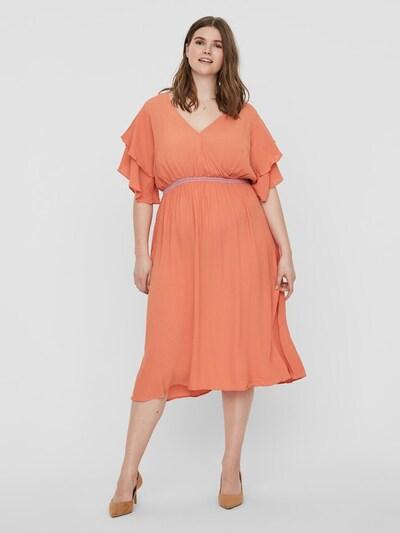 Junarose Kleid in lachs, Modelansicht