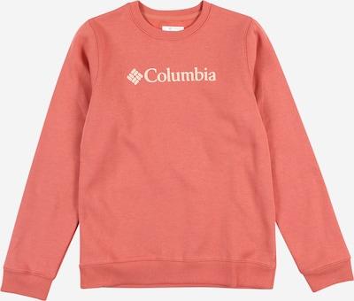 COLUMBIA Sportsweatshirt in koralle / weiß, Produktansicht