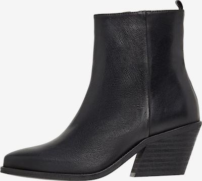 Bianco Enkellaarsjes in de kleur Zwart, Productweergave
