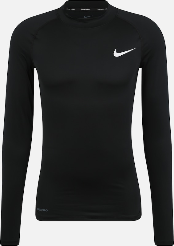 NIKE Sport-Shirt 'M NP TOP LS TIGHT MOCK' in schwarz, Produktansicht