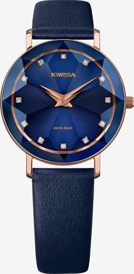 JOWISSA Quarzuhr 'Facet' Swiss Ladies Watch in blau / rosegold, Produktansicht