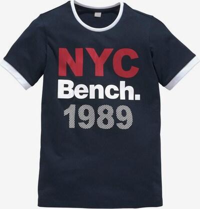 BENCH T-Shirt in marine / rot / weiß: Frontalansicht