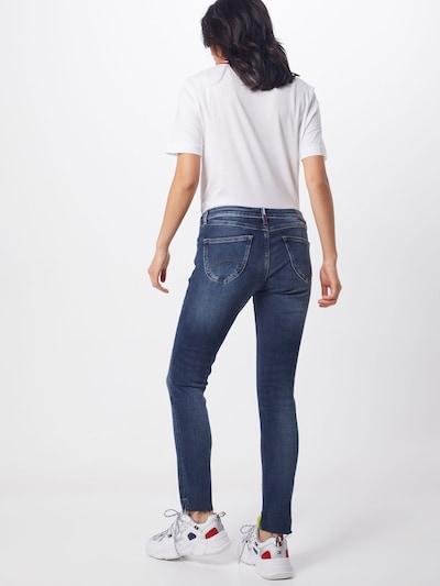 Tommy Jeans Jeans 'Sophie Low Rise Skinny Ankle' in de kleur Donkerblauw: Achteraanzicht