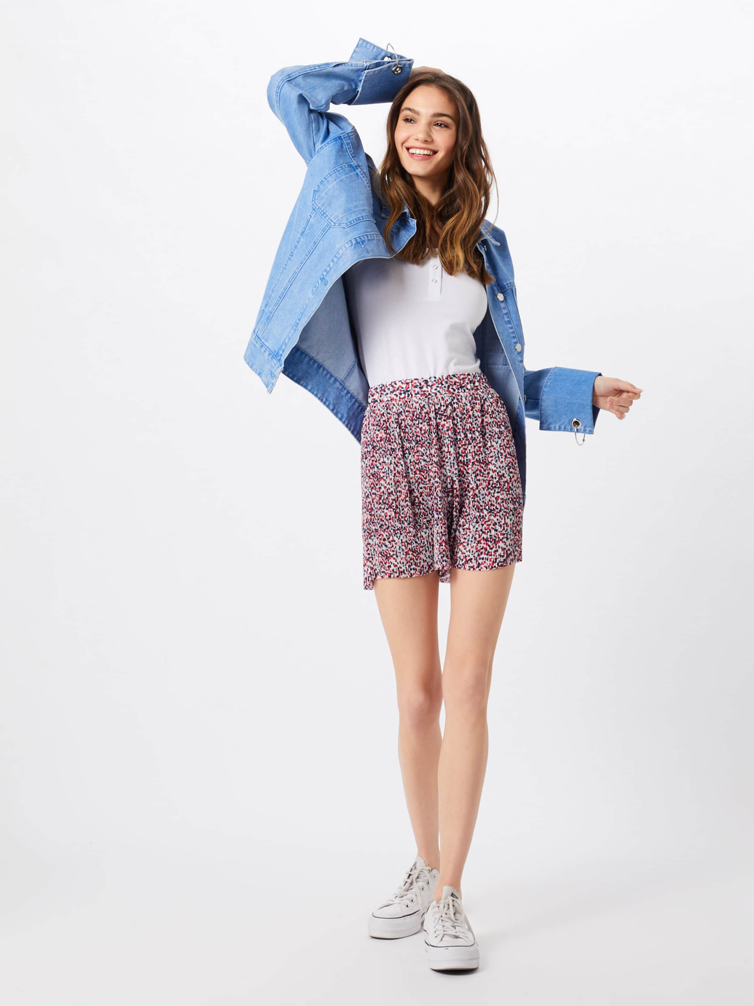 En 'pleated Couleurs Pantalon De Shorts' Mavi Mélange 4jA5RL