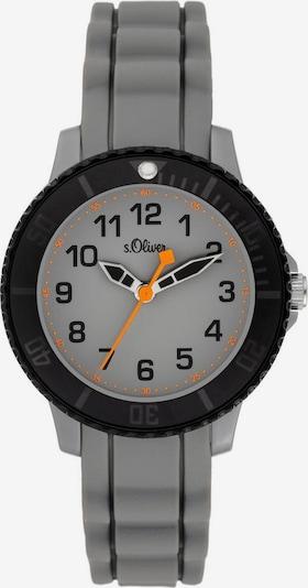 s.Oliver Uhr in silbergrau / dunkelorange / schwarz, Produktansicht