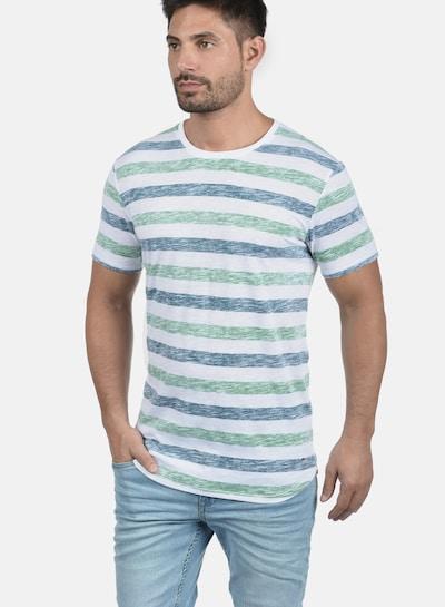 !Solid Rundhalsshirt 'Tet' in creme / blau / grün: Frontalansicht