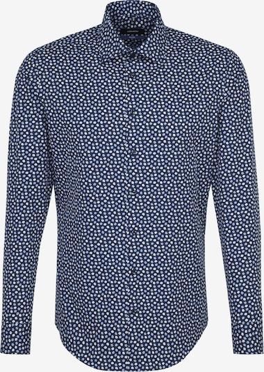 SEIDENSTICKER Hemd in rauchblau / dunkelblau / weiß, Produktansicht