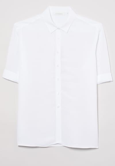 ETERNA Kurzarm Bluse MODERN CLASSIC in weiß, Produktansicht