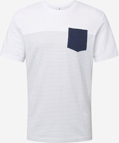 TOM TAILOR Tričko - tmavomodrá / svetlosivá / biela, Produkt