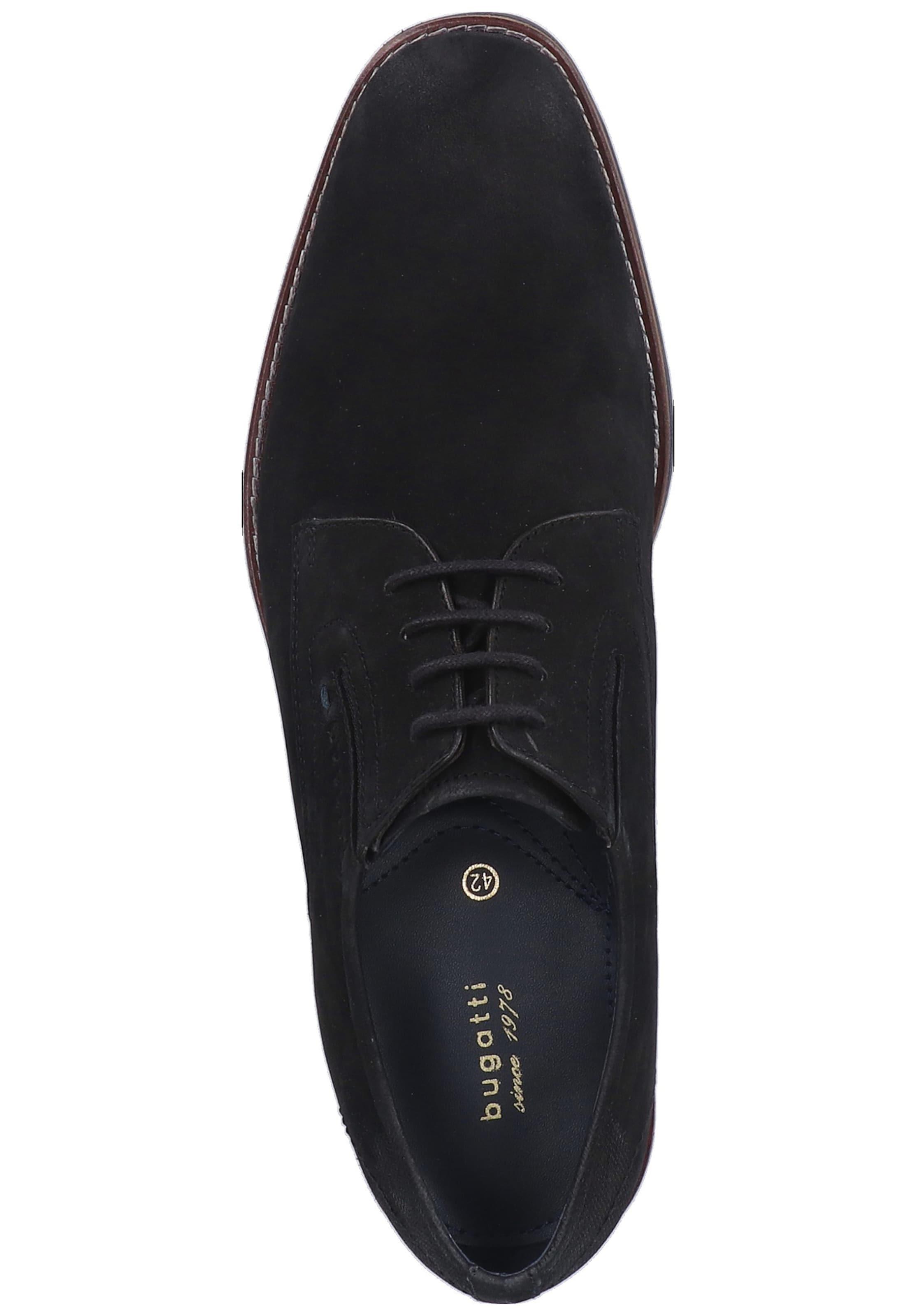 À En Bugatti Lacets Noir Chaussure EIHDYW29